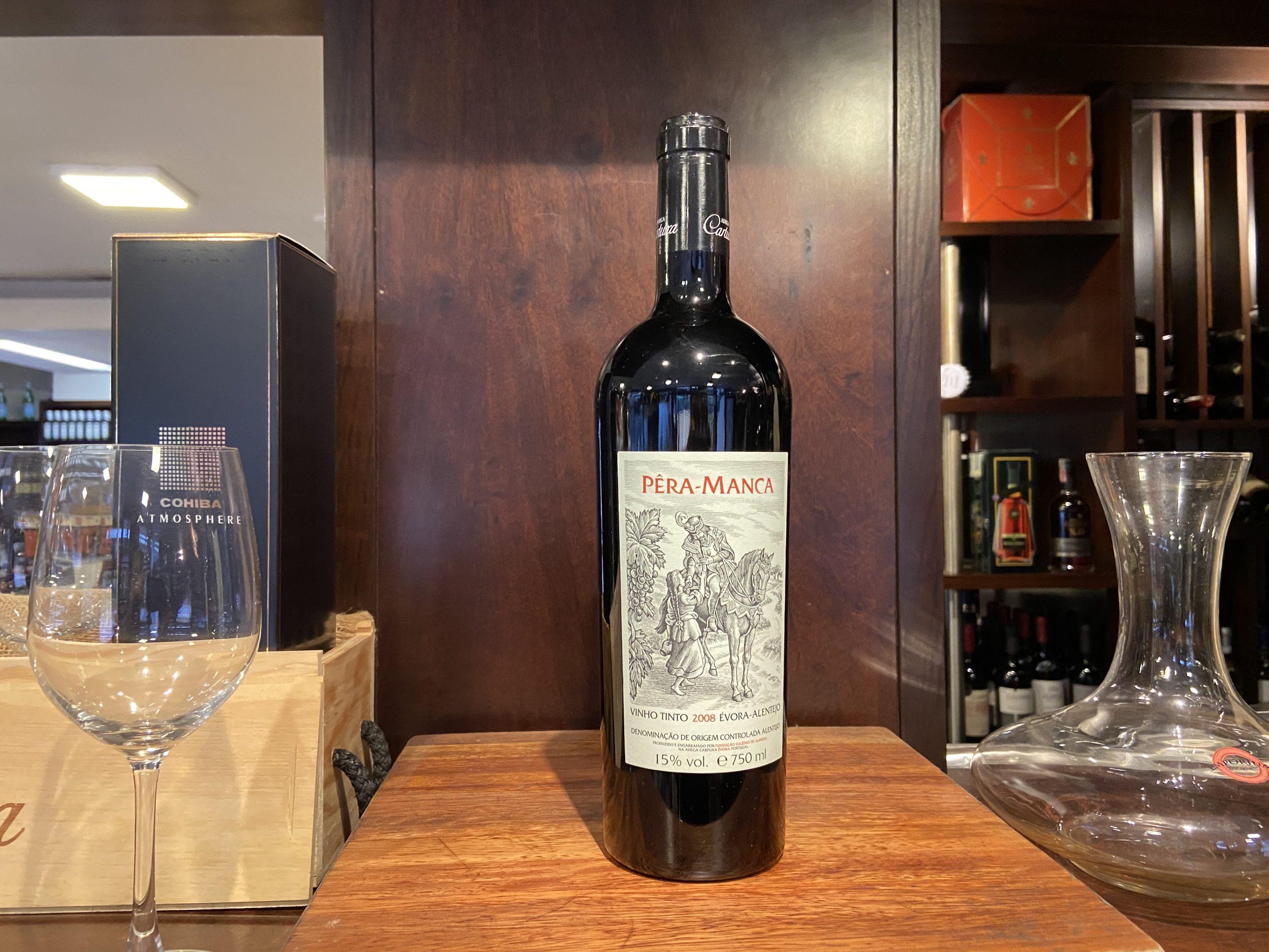 O icônico vinho alentejano Pêra-Manca Tinto safra 2008